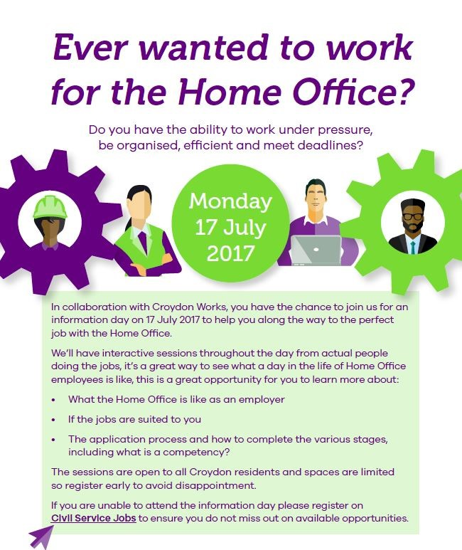 The Home Office Career Information Day - Monday 17th July 2017